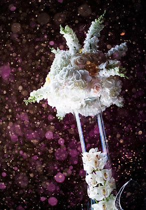 T121 -Luxury tall flower centrepiece with orchids
