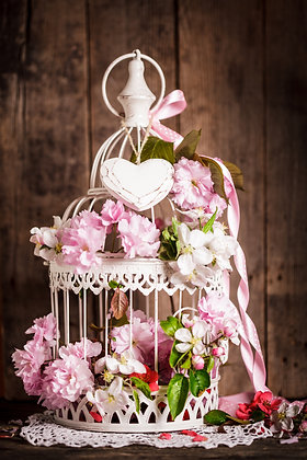 Bird cage wedding centrepiece
