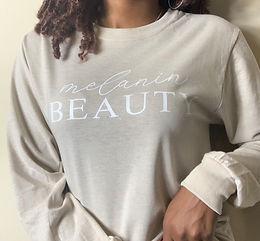 Melanin Beauty T-shirt (Long Sleeve)