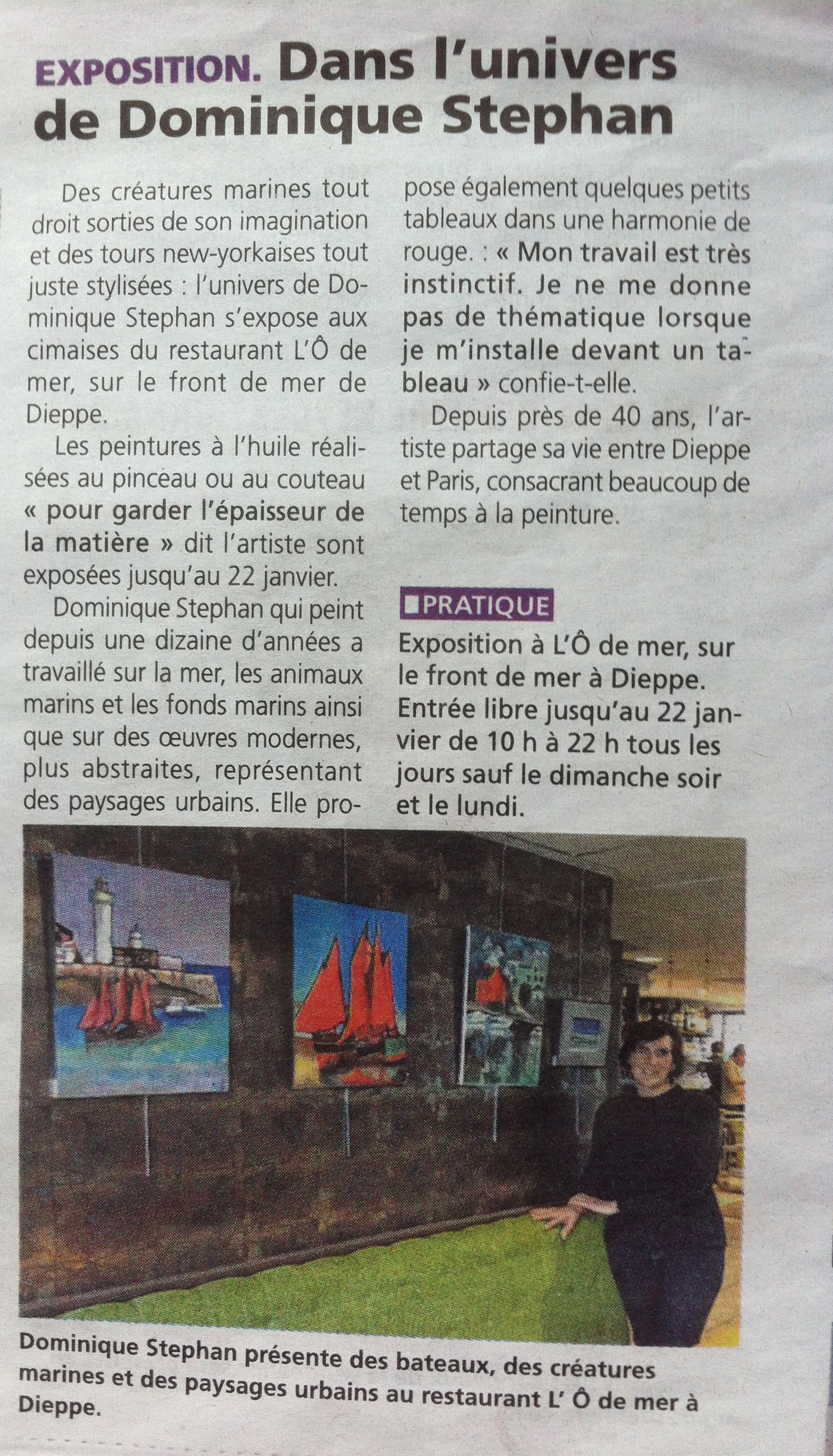 Expo l'O2MER Presse