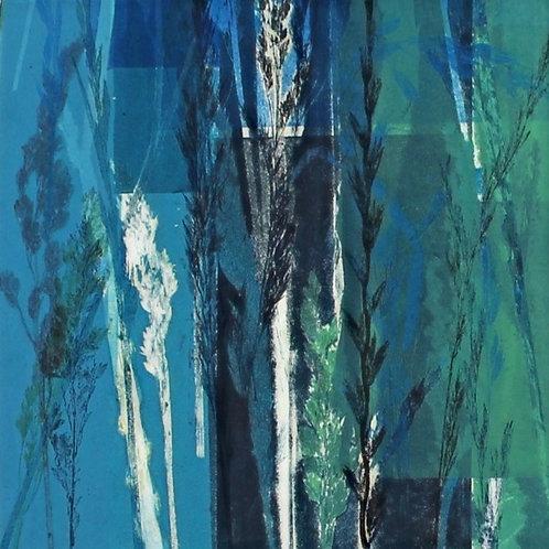Grasses IV (blue)