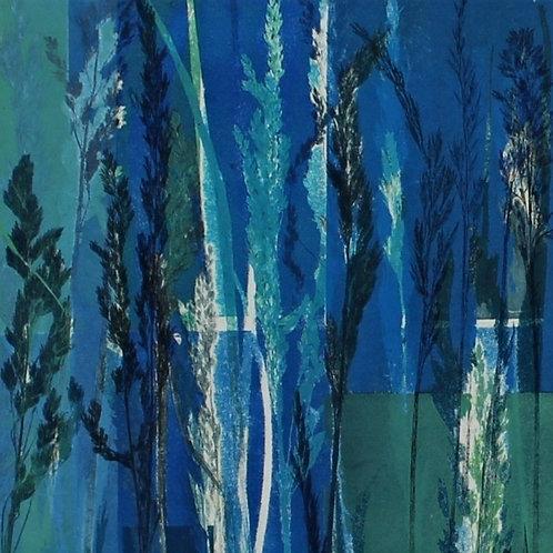 Grasses III (blue)