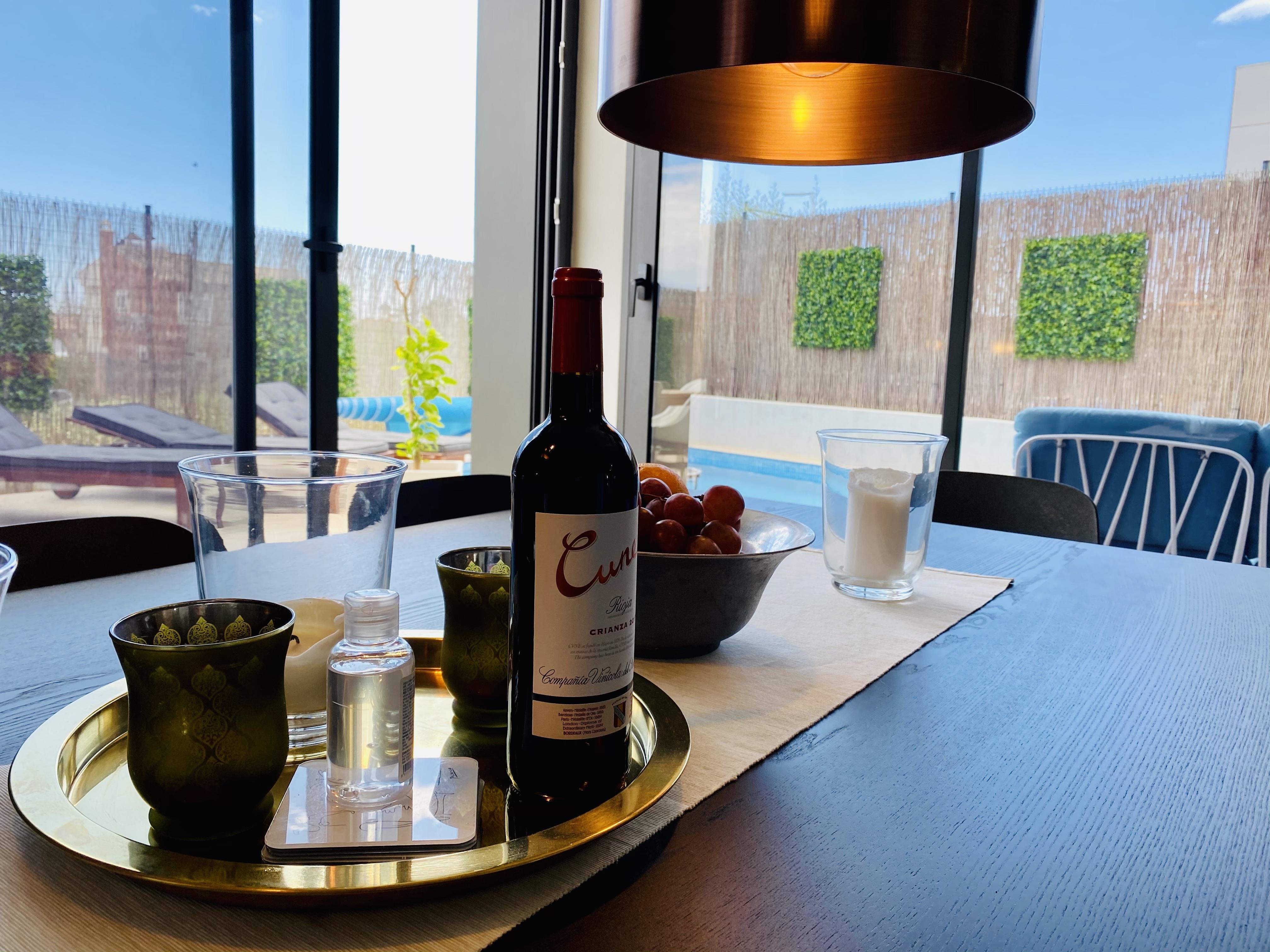 Vin till gästerna