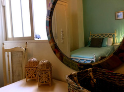 Bedroom throu mirror
