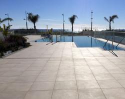 Stort poolområde