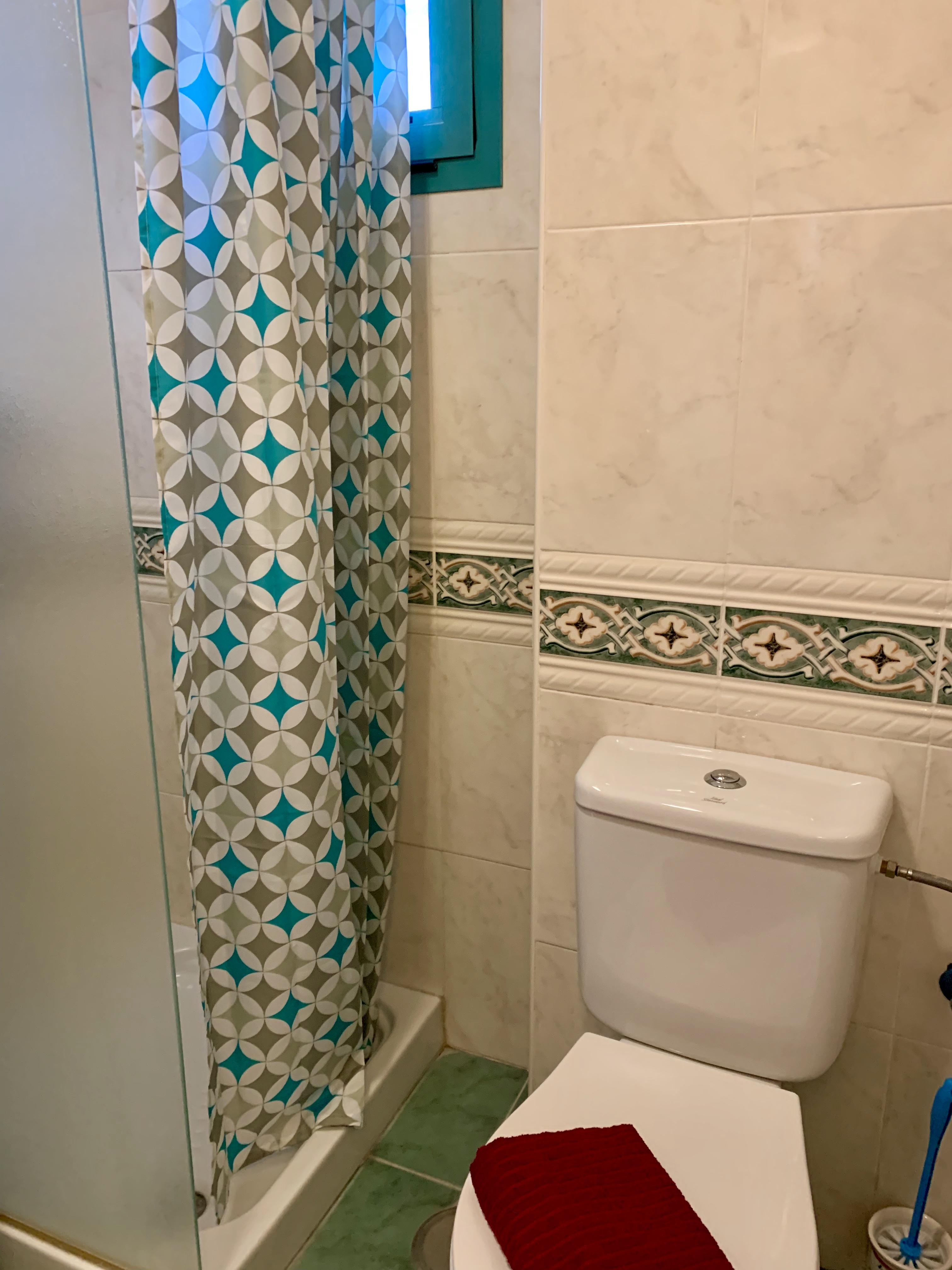 Badrum litet dusch