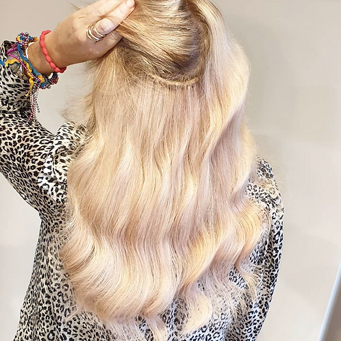 BLONDE SLAVIC (HAND TIED) weave extensions