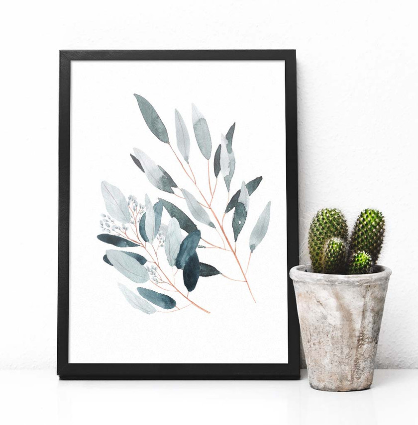 eucalyptus, hand painted, watercolor eucalyptus, gallery wall, printable art, south pacific prints, digital art, instant download, wall art, instant art, scripture, watercolor