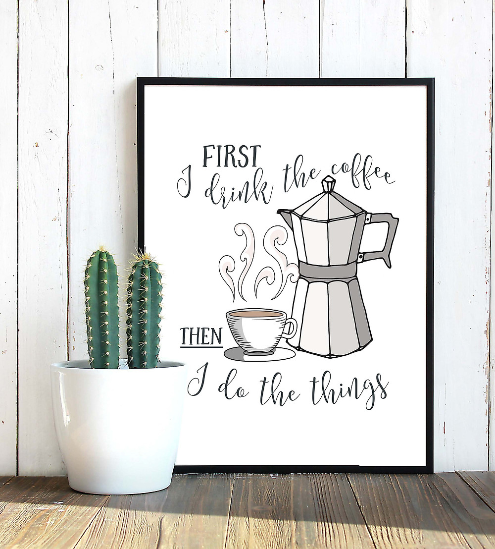 coffee poster wall art