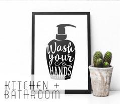 Kitchen & bathroom art