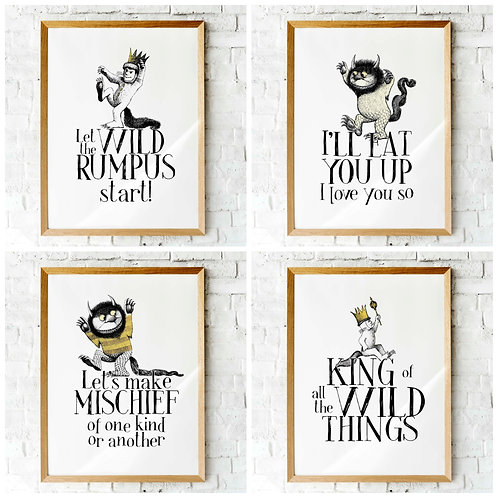 Where the Wild Things are | Printable posters | nursery decor