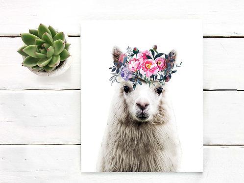 llama art print,alpaca, watercolor, watercolor alpaca art print, alpaca wall art, llama print, llama art