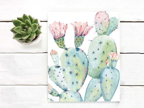 watercolor, cactus, printable art, cactus art print, instant download