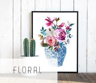 Printable floral art