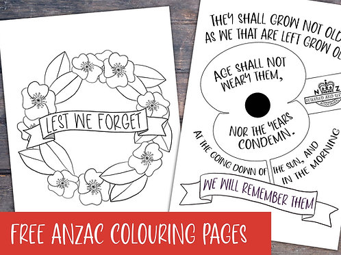 Anzac Printable Coloring Pages | Download link in description
