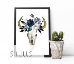 Skulls printable art