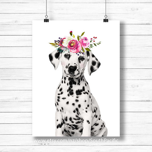 Dalmation wall art, Dalmation art print, Dog art, new zealand artist