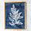Set of four blue ink fern printables   botanical wall art   ink blue ferns, Hamptons style, coastal decor