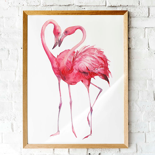 Flamingos  Watercolor | Printable art