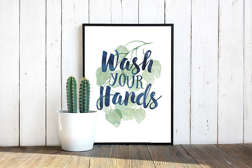 wash your hands, printable bathroom sign, covid19, coronavirus, wash hands poster