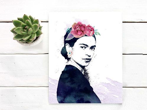 Frida Kahlo painting watercolor