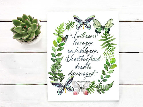 i will never leave you or forsake you | printable art  scripture coronavirus fear do not be afraid christian
