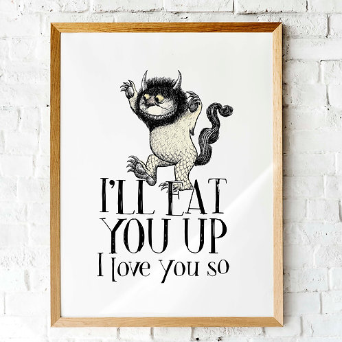 Where the Wild Things are | Printable posters | nursery decor | King of all the wild things