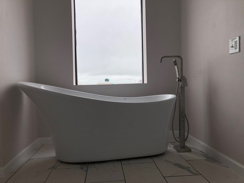 Tub instal and tile work