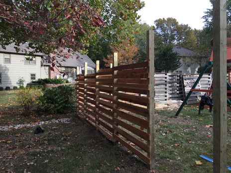 Fixing and replicating parts of a fence for Bill Lepentis of Lepentis Research & Design