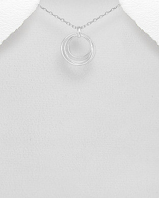 Sterling Silver Wire Circle Pendant