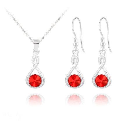 Infinity jewel-Made Eith Swarovski Earrings