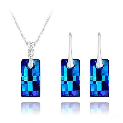 Urban Silver Jewellery set - Bermuda Blue