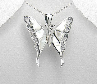 Mother of Pearl Butterfly necklace