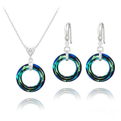 Cosmic Ring -Made with Swarovski Crystal Bermuda blue