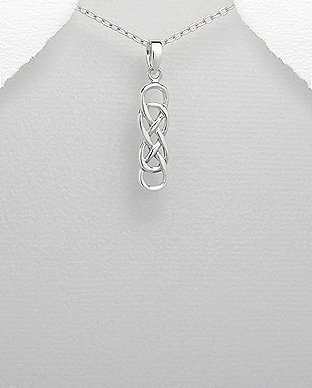 Sterling Silver Celtic and Infinity Pendant