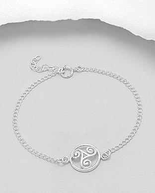 Sterling Silver Triskelion Bracelet