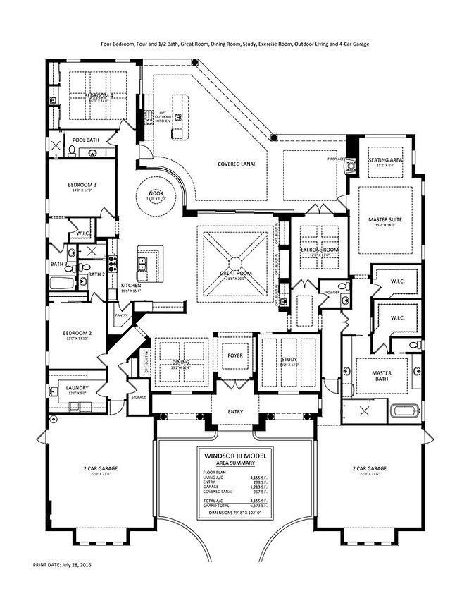AREZZO  floor plan  Stock home Esplanade Naples