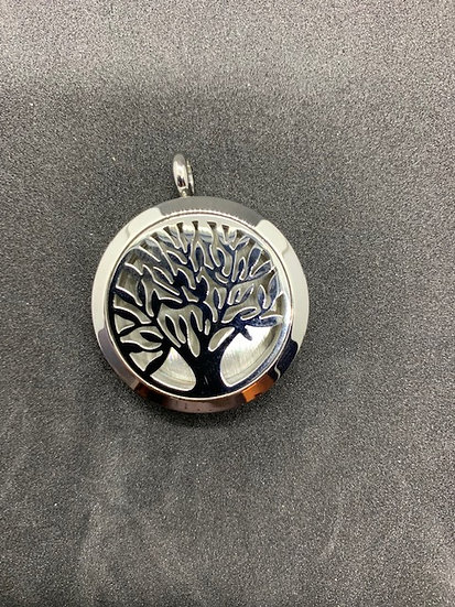 Stainless Steel Aromatherapy Necklace - Tree of Life