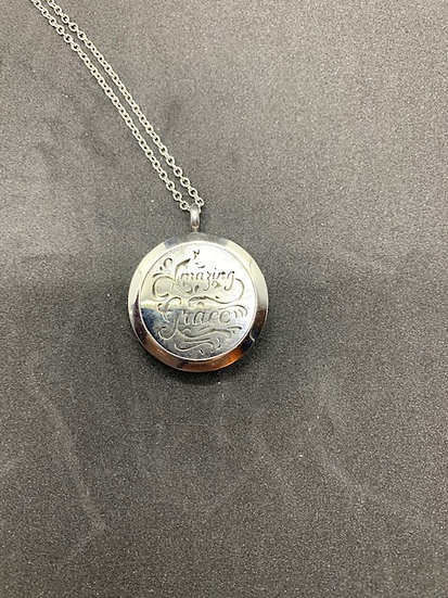 Stainless Steel Aromatherapy Necklace - Amazing Grace