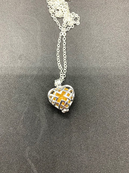 Stainless Steel Aromatherapy Necklace - Heart Cage