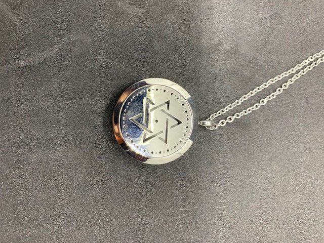 Stainless Steel Aromatherapy Necklace - Star of David