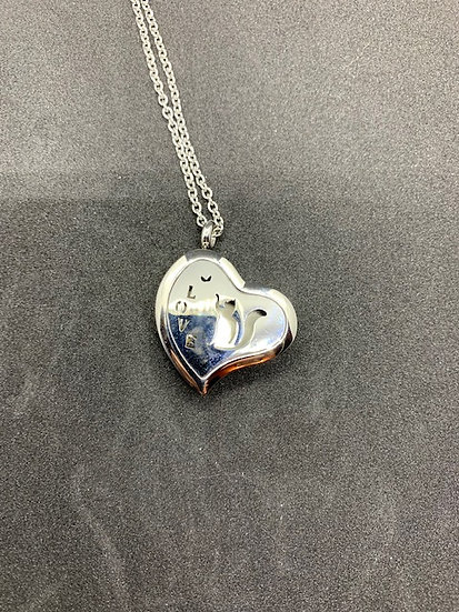 Stainless Steel Aromatherapy Necklace - Cat with Love