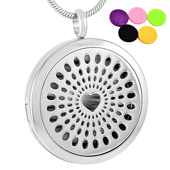 Stainless Steel Aromatherapy Hearts
