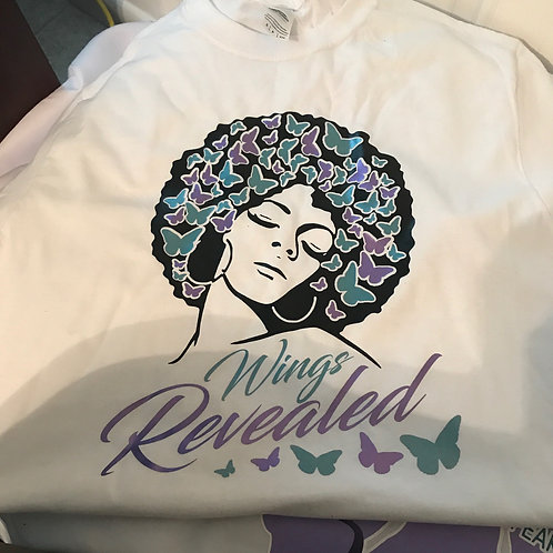 Wings Revealed White Tee