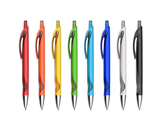 עט לחצן חצי שקוף