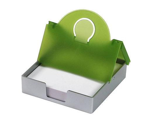 מעמד שולחני לניירות ממו בצבע ירוק