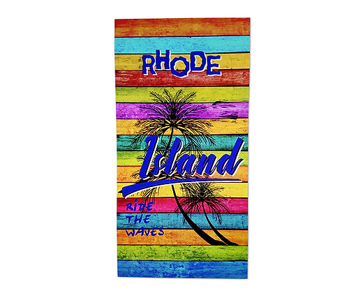 מגבת חוף עם הדפסה צבעונית