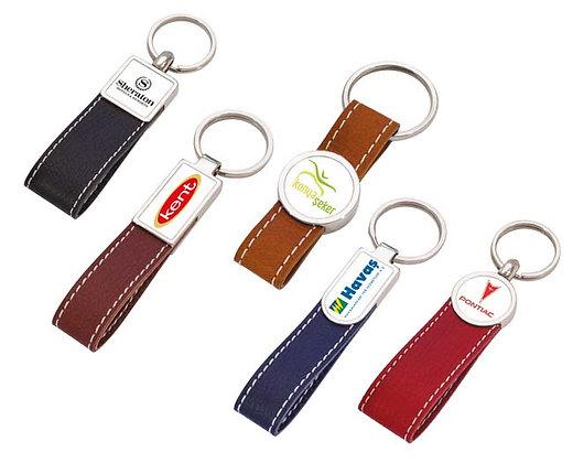 מחזיק מפתחות עם רצועת עור