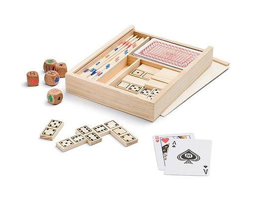 משחק בקופסת עץ 4 ב-1