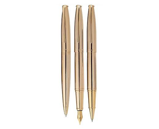 סדרת עטים בציפוי זהב